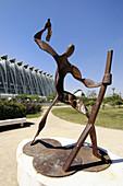 Sculpture in the City of Arts and Sciences, Valencia. Comunidad Valenciana, Spain