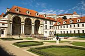 Wallenstein palace ornamental garden mala strana. Prague. Czech Republic.