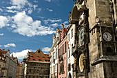 Astronomical clock old town square stare mesto. Prague. Czech Republic.