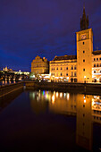 Smetana museum old water tower river vltava waterfront stare mesto. Prague. Czech Republic.