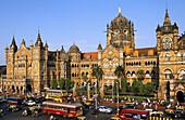 VICTORIA TERMINUS RAILWAY STATION, MUMBAI, MAHARASHTRA, INDIA