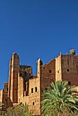 Morocco, near Quarzazate, Glaoui Kasbah at Tamdagt