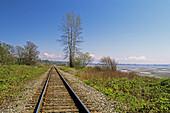 Railway tracks. Whiterock, British Columbia, Canada