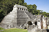 Templo de las Inscripciones, Temple of the Inscriptions, Palenque Archaeological Site, Palenque, Chiapas, Mexico