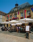 Cafe scene, Sarlat, The Dordogne, France