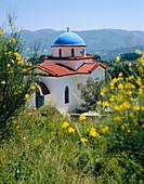 Church nestled in hills, General, Kos Island, Greek Islands