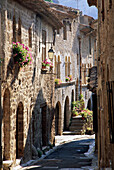 Narrow Pretty Street, St. Guilhem-le-desert, Languedoc-Roussillon, France