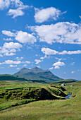 View with Canisp Mountain, Canisp, Highland, UK, Scotland