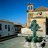 Plaza De Santa Maria De Almocovar, Alcantara, Extremadura, Spain
