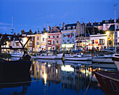 The Quayside at Night, Weymouth, Dorset, UK, England