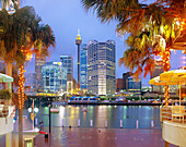 Darling Harbour at Dusk, Sydney, New South Wales, Australia