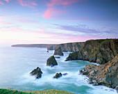 Coastal Scene, Bedruthan Steps, Cornwall, UK, England