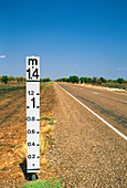 Flood-depth Marker Post, Victoria Highway, Northern Territory, Australia