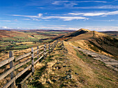 Lose Hill from Mam Tor, Hope Valley, Derbyshire, UK, England