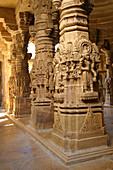 Jain temple, interior detail, Jaisalmer, Rajasthan, India