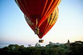 Hot air balloons, Bagan, Burma