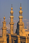 View at the minarets of Al Azhar Mosque, Cairo, Egypt, Africa