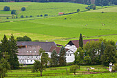 Outdoor Photo, Early autumn, Day,Farmhouse at Wenholthausen, Sauerland, North Rhine - Westfalia, Germany, Europe