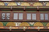 Detail of the Adam-and Eva-House, Paderborn, North Rhine-Westphalia, Germany