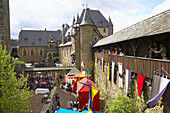 Knights festival, Schloss Burg, Solingen, North Rhine-Westphalia, Germany