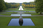 Baroque garden in the evening, Kleve, North Rhine-Westphalia, Germany
