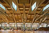 indoor sport hall, Lilly Henoch Sport Hall, Spreewald School at Winterfeldplatz in Berlin