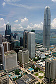 Central district from Bank of China with International Finance Centre 2, Central, Hong Kong, China