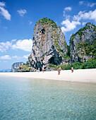 Beach scene, Phra-Nang Bay, Krabi, Thailand