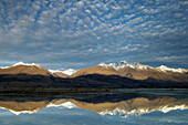 View over Lake Wakatipu to the Southern Alps, Queenstown, near, South Island, New Zealand