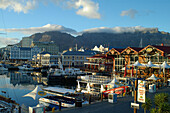 The V&A Waterfront withTable Mountain in background, Cape Town, Western Cape, South Africa