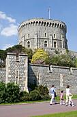 Windsor Castle, the Round Tower, Windsor, Berkshire, UK, England