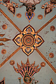 Carved and painted ceiling detail at Patuxai, Victory Gate, Vientiane, Laos