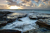Rocks and rough sea at sunset, Seascapes, Natural World