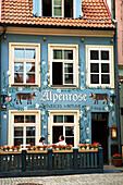 Alpenrose Swiss restaurant in the Old Town, Riga, Latvia