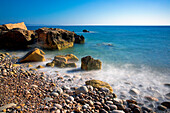 Seascape and rocky shoreline, Abstract, Specials