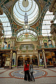 County Arcade, attractive shopping precinct in The Victoria Quarter, Leeds, Yorkshire, UK, England