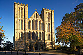 Ripon Cathedral, West Front, Ripon, Yorkshire, UK, England
