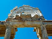 Detail of the Tetrapylon, monumental gateway, Aphrodisias, Aegean, Turkey