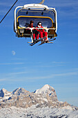 Cable car above mountains, Winter Sports, Leisure & Activities