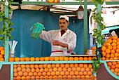 Orange juice seller, Marrakesh, Morocco