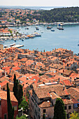 View over town from Cathedral of St Euphemia, Rovinj, Istria, Croatia