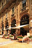 Cafe in Galleria Vittorio Emanuele II, Milan, Lombardy, Italy