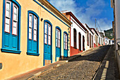 Colourful street scene, Garafia, La Palma, Canary Islands