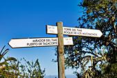 Signpost, General, La Palma, Canary Islands