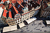 View from the tower of the Old Town Hall, Prague, Czech. Republic