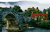 Inigo Jones bridge over River Conwy, Llanrwst, Gwynedd, UK, Wales