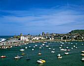 View over the harbour, Aberystwyth, Gwynedd, UK, Wales