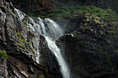 Cascada Juan Jorro, waterfall in the mountains, El Risco valley, Parque Natural de Tamadaba, Gran Canaria, Canary Islands, Spain, Europe