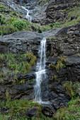 Waterfall Barranco de la Palma at a gorge, Parque Natural de Tamadaba, Gran Canaria, Canary Islands, Spain, Europe