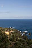 Hacienda de Castro, country house amidst palm trees on shore, Tenerife, Canary Islands, Spain, Europe
